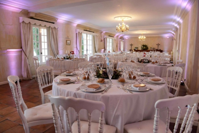 Wedding event organized at the Château de Lantic